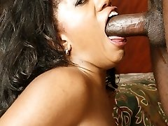 Pornstar Stacey Cash flaunts her phat ebony ass then goes to work sucking and fucking
