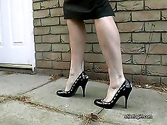 Alison wears stylish high heels knowing that men with a shoe fetish will be aroused by them. As...