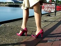 Sonia has beautiful legs which have been perfectly shaped over the years by the lovely high heel...