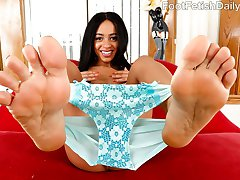 Anya Ivy wants her man to rub oil all over her feet so she can stroke his cock with her toes. Once her pussy is wet she begs for him to fuck her perfect pussy. She wants that load all over her pretty feet.