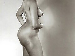 Pretty nude vintage models