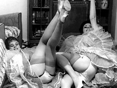 Passionate ladies appear in vintage lingerie and show their nice bodies on these hot erotic...