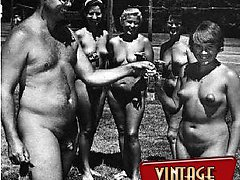 Vintage nudists get naked