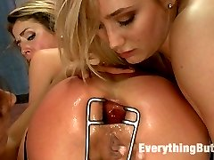 Sheena Shaw and AJ Applegate are two sexy girls with asses to die for. These full round bottomed...