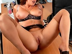 Its get boring in the office at the end of the day for Jenny, and you give her a chance to get...