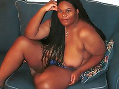 Amateur BBW black girl gets naked