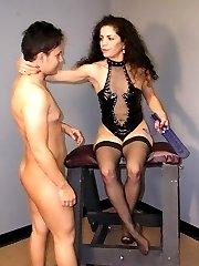Older gal keeps spanking