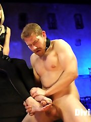 Mona Wales strips slave, Alex Adams, of any male pride he had lingering in his body. She uses...