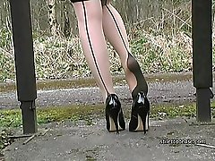 Tonis high heel shoes need cleaning, with your cream all over them! Then she needs them to be...