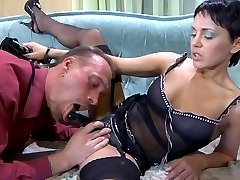 Pervy chick takes out a strapon and fucks her male lover into submission
