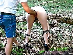 Extreme amateur brutally fisted and abandoned in a forest