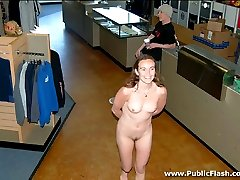 Crystal performs nude gymnastics in public