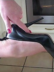 If the sight of Dr Holly caressing and feeling her high heel shoe gets you excited and ready to...