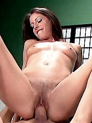 Liza Harper gets her hairy pussy licked and kissed before riding a huge cock like a cowgirl