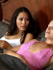 Hot lesbian sex with Jessica Bangkok and Samantha Ryan