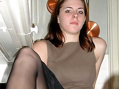 A teen girl in upskirt photos