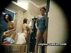 Locker room cameraexposes plenty of hot females changing clothes together
