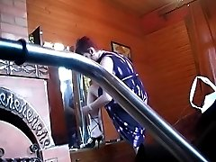 Undressing lady does it unaware of hidden cams