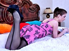 Leggy vixen gets her skirt hiked up for some ass licking and anal screwing