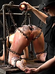 Raven haired and American Sioux Indian Siouxie Q signs up to be mercilessly tormented by Claire...