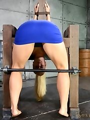 We have a custom made wooden frame that is perfect for the eager, hot MILF that came to us...