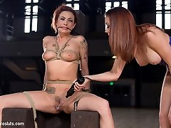 Watch as Chanel Preston takes full advantage of beautiful horny submissive electro slut Dahlia...