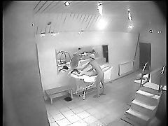 Naked chicks enjoy massage in the voyeur sauna