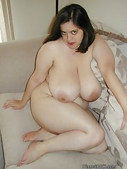 Colette exclusive nude on the sofa huge boobs