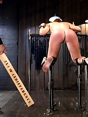 Sophia is one of the toughest pain sluts that we have had grace the pages of Device Bondage. She...