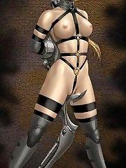 lesbian hentai bondage