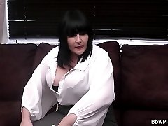 Fat ass brunette with large tits and nipples picked up for hot fucking