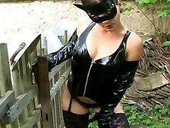 Outdoor Latex Slave Banged
