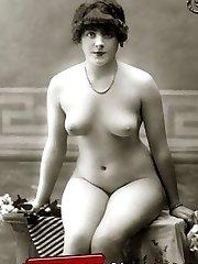 Vintage naked babes posing