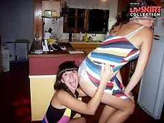 Hot upskirt girls have a blast