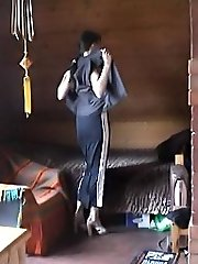 Hot voyeur clips of a nude lovely housewife