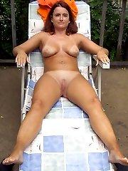Hidden camera on the nudist beach