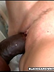 hot white slut fucks multiple black cocks