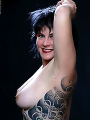 michelle aston artistic nudes showing great tattoos