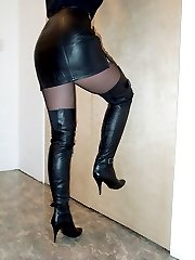 girls in leather