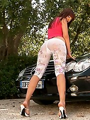 Perfect legs on a perfect car