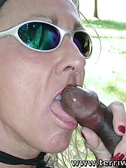 Milf FLASHING and SUCKING Cock in PUBLIC