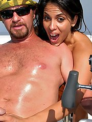 Baging angelina gets her hot bikini fucking body pounded hard on the waves in these hot boat...
