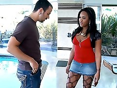 Amazing mega hot ass fucking ebony babe gets her fishnet box drilled hard in these 4 reality...