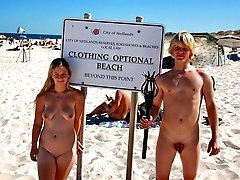 Amateur photos taken from hidden cameras on the nudist beaches