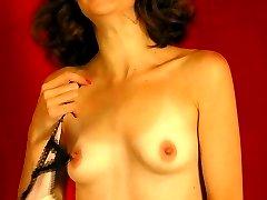Young girl in panties