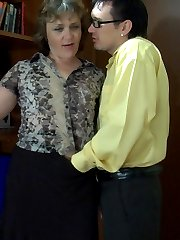 Office mature getting groped and spread on the desk by a younger co-worker