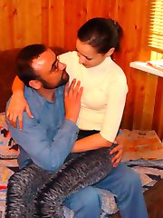 Cute girl with older man