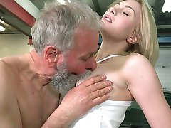 When Frances moved closer and touched the old goes young executive and he did not resist, she...