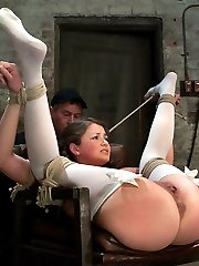 Sweet, innocent Allie Haze, in her thigh highs and pig tails will soon realize what it really...