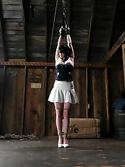 21 year old Andy San Dimas is adorable. With some experience in BDSM, she likes feeling confined...